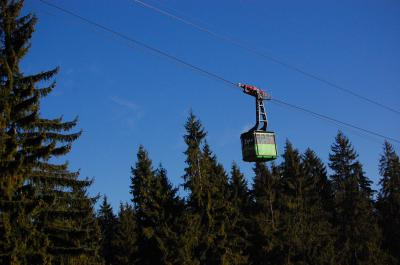 Download free tree sky cable-car image