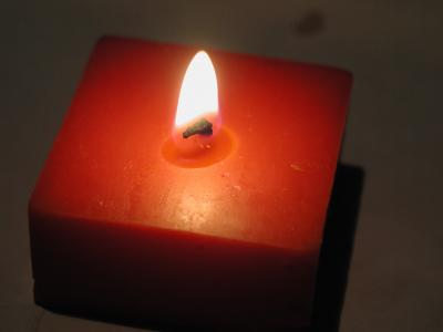 Download free red candle fire flame image