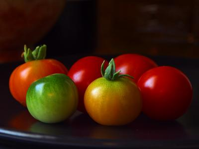 Download free leaf vegetable food plant cherry tomato image