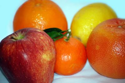 Download free leaf red yellow apple orange lemon image