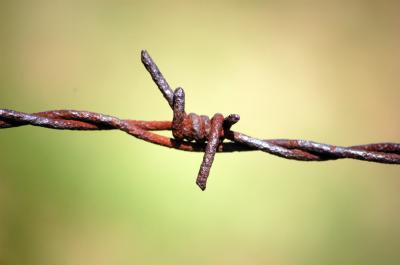 Download free closing barbed rust iron image