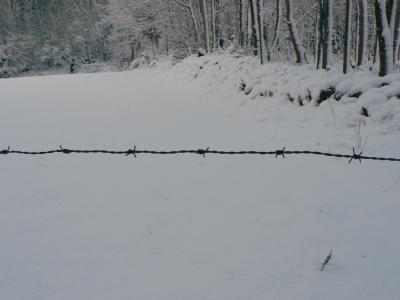 Download free snow closing barbed image