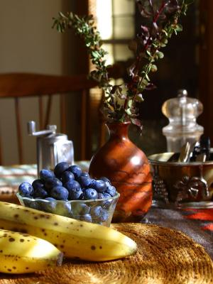 Download free fruit food grapes table banana image