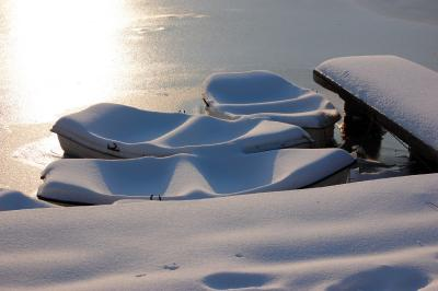 Download free ice snow boat harbour image