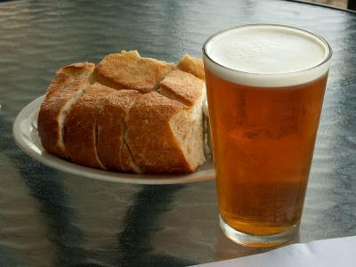 Download free food beer bread drink image